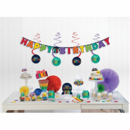 Mini Decorating Kit Birthday Accessories Rainbow Paper
