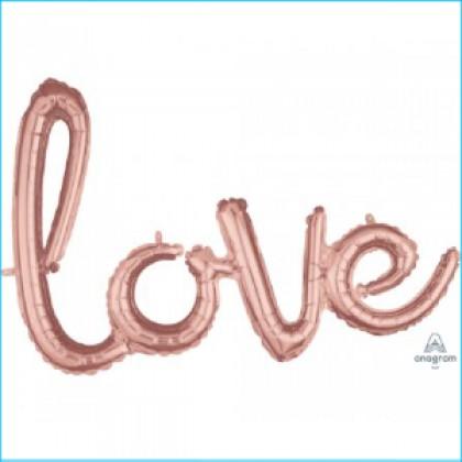 G40 Script Phrase Love Rose Gold
