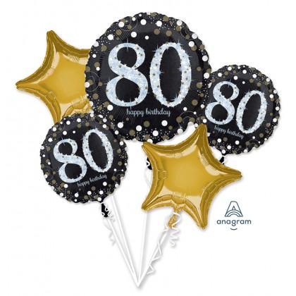 Sparkling 80th Birthday Balloon Bouquet