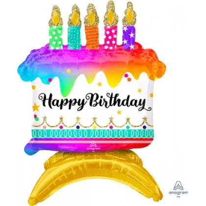 Decor Happy Birthday Cake Ultra Shape