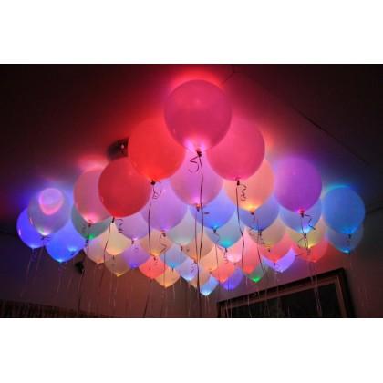 "12"" LED Balloons - Latex."