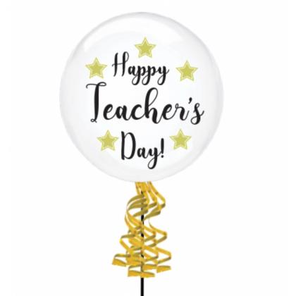 Happy Teachers' Day Die-Cut Bubble Balloon
