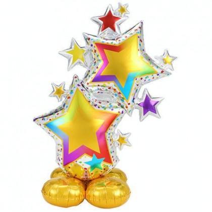 P70 ARLNZ LRG CI COLORFL STAR CLSTR