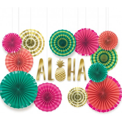 Aloha Deluxe Fan Decorating Kit  Paper & Foil Board