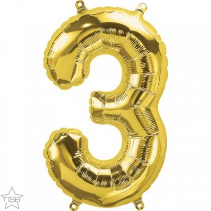 "NS 16"" (GOLD) Mini Foil Number 3"