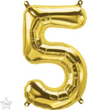 "NS 16"" (GOLD) Mini Foil Number 5"