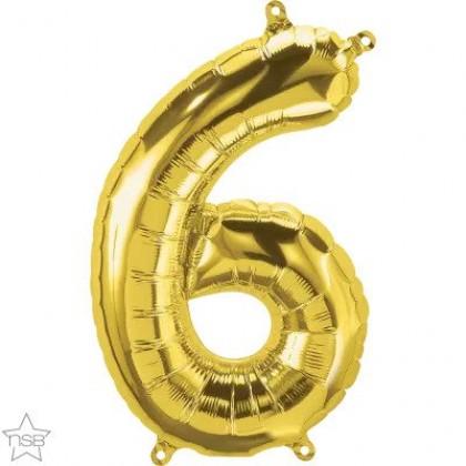 "NS 16"" (GOLD) Mini Foil Number 6"