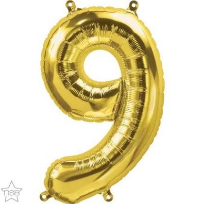 "NS 16"" (GOLD) Mini Foil Number 9"