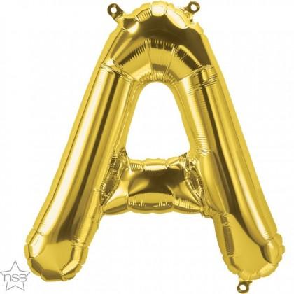 """NS 16"""" (GOLD) Mini Foil Letter A"""