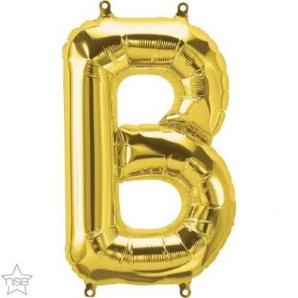 """NS 16"""" (GOLD) Mini Foil Letter B"""