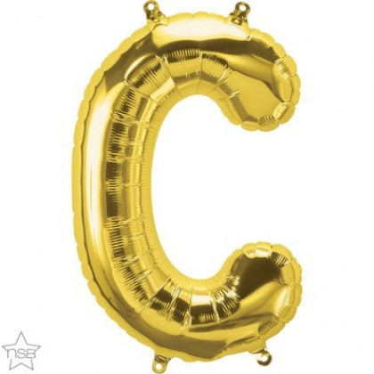 "NS 16"" (GOLD) Mini Foil Letter C"