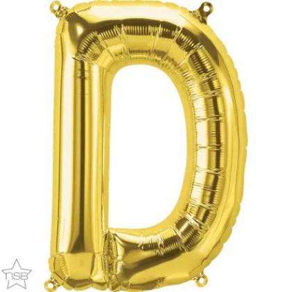 """NS 16"""" (GOLD) Mini Foil Letter D"""