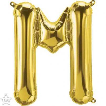 "NS 16"" (GOLD) Mini Foil Letter M"