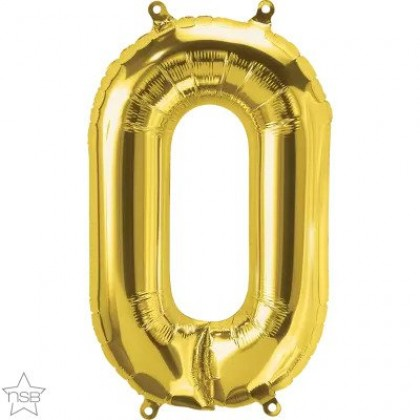 """NS 16"""" (GOLD) Mini Foil Letter O"""