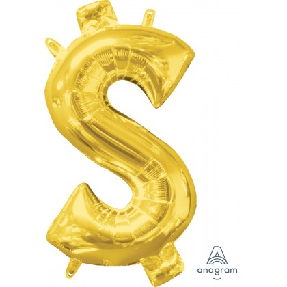 "L16 16"" (GOLD) Mini Foil Symbol $"