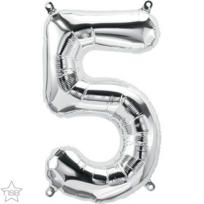 """NS 16"""" (SILVER) Mini Foil Number 5"""