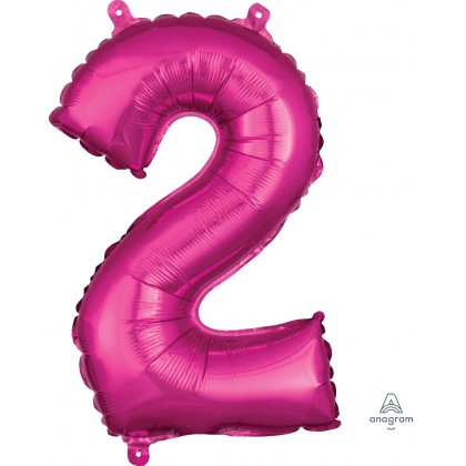 """40"""" Megaloon Number 2 Pink Balloon"""