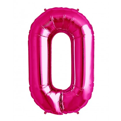 """40"""" Megaloon Number 0 Pink Balloon"""