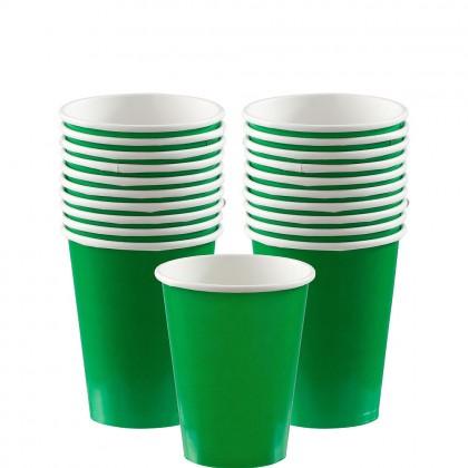 Paper Cup 9oz Festive Green