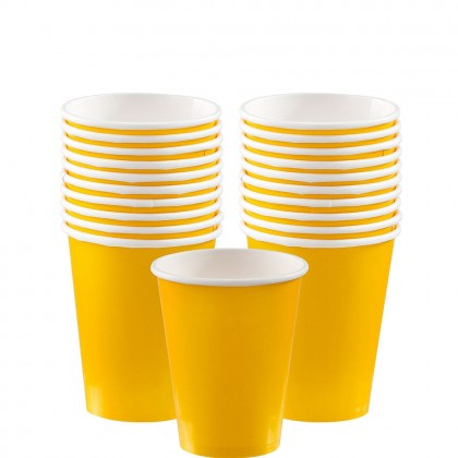 Paper Cup 9oz Yellow Sunshine