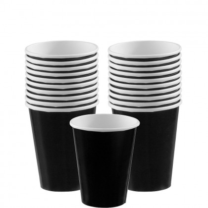 Paper Cup 9oz Jet Black