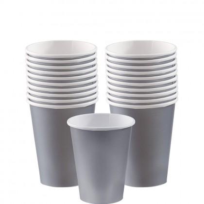 Paper Cup 9oz Silver
