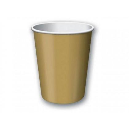 Paper Cup 9oz Light Gold