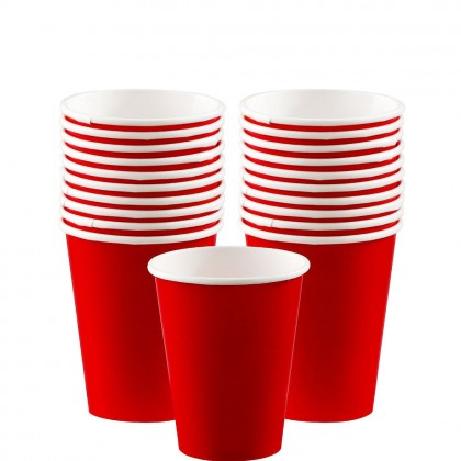 Paper Cup 9oz Apple Red