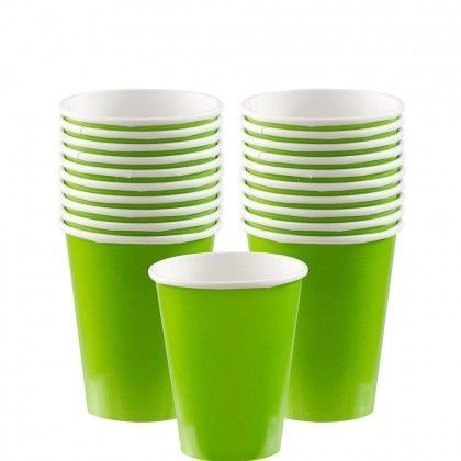 Paper Cup 9oz Kiwi Green