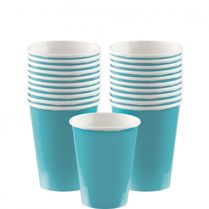 Paper Cup 9oz Carribean Blue