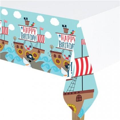 Ahoy Birthday Plastic Table Cover
