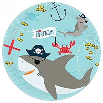 Ahoy Birthday Round Plates, 7 in