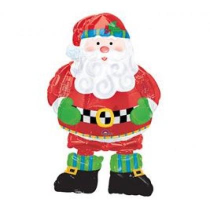 "P75 37"" Whimsical Santa AirWalkers® Foil Balloon"