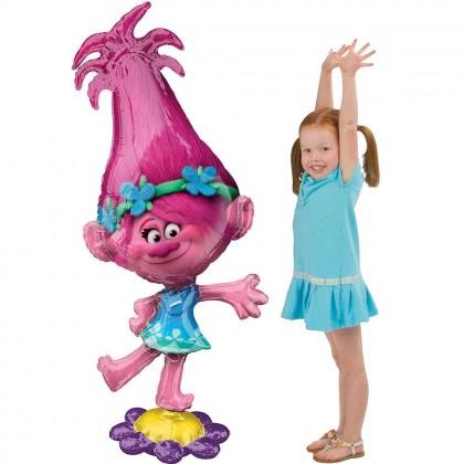 """P93 58"""" Trolls Poppy AirWalkers® Foil Balloon"""