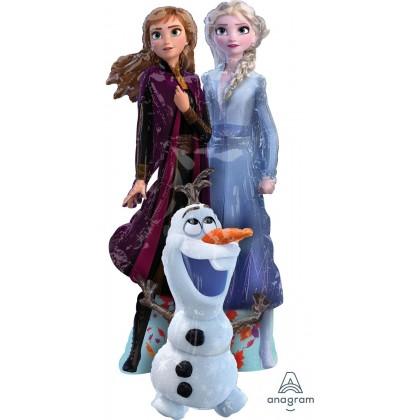 "P93 57"" Frozen Elsa Anna Olaf AirWalkers® Foil Balloon"