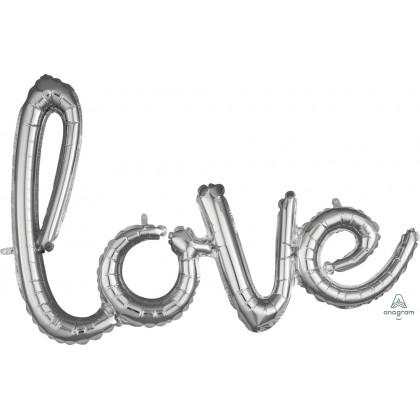 """G40 21"""" (Silver) Script Phrase : Love"""