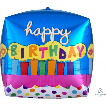 "G20 15"" Birthday Cake Cube UltraShape™ Cubez™"