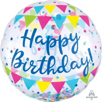 "P60 28"" Confetti Balloon Streamer Fun HBD Insiders™"