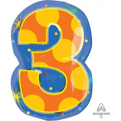"""S60 20"""" 3 Confetti Dots Junior Shape XL®"""
