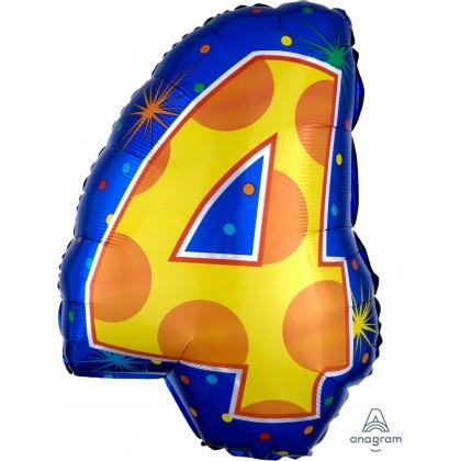 """S60 20"""" 4 Confetti Dots Junior Shape XL®"""