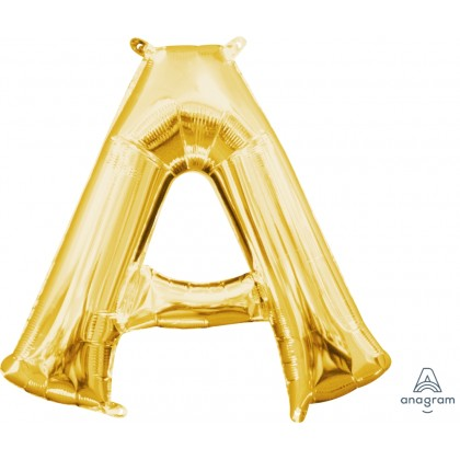 "L16 16"" (GOLD) Mini Foil Letter A"