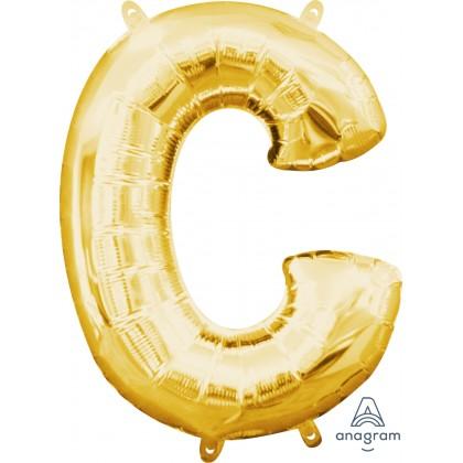 "L16 16"" (GOLD) Mini Foil Letter C"