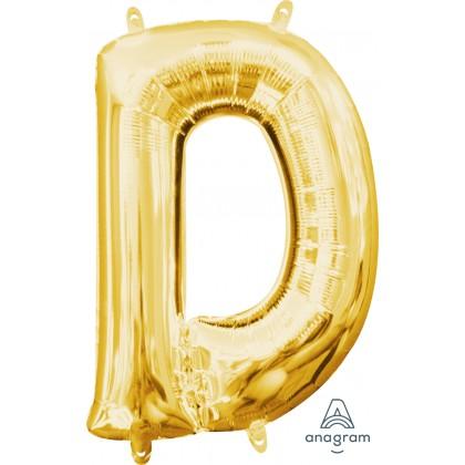 "L16 16"" (GOLD) Mini Foil Letter D"