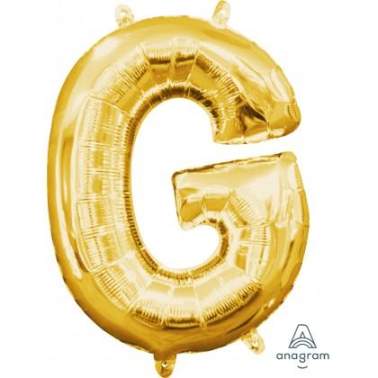 "L16 16"" (GOLD) Mini Foil Letter G"