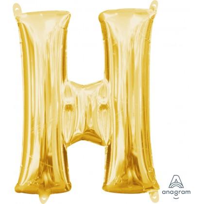 "L16 16"" (GOLD) Mini Foil Letter H"