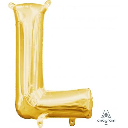 """L16 16"""" (GOLD) Mini Foil Letter L"""