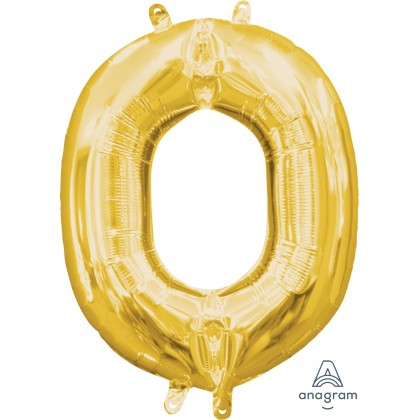 """L16 16"""" (GOLD) Mini Foil Letter O"""