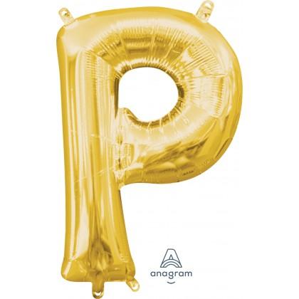 "L16 16"" (GOLD) Mini Foil Letter P"