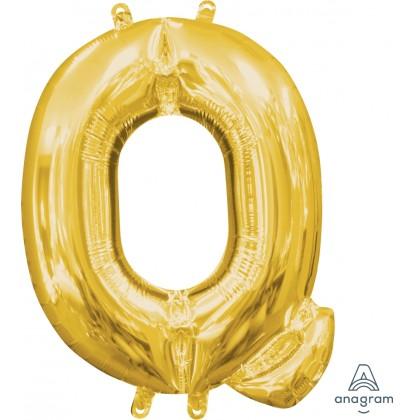 "L16 16"" (GOLD) Mini Foil Letter Q"
