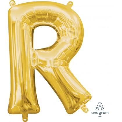 "L16 16"" (GOLD) Mini Foil Letter R"